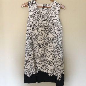 BRAND NEW Flower print dress open back cape
